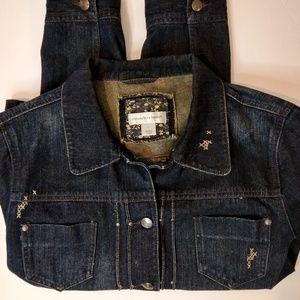 Christopher & Banks Dark Wash Jean Jacket Size L